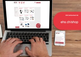 Moderner Webshop von EHS Switzerland AG ehs.ch/shop